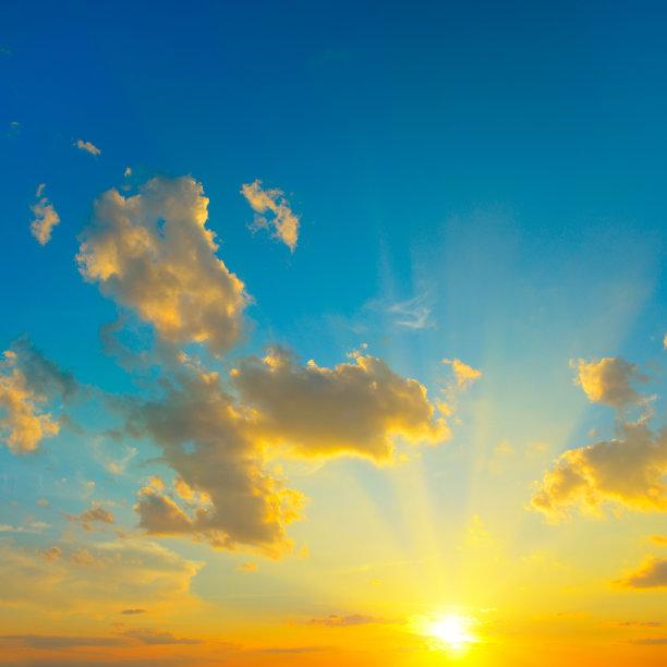 明亮,自然美,云景