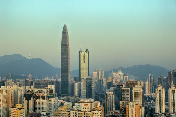 深圳建筑外部天空