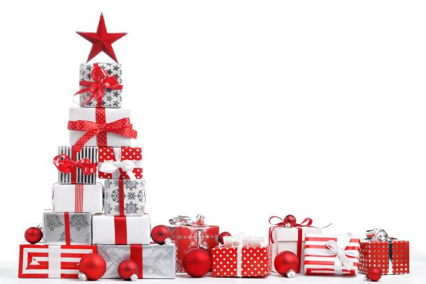 圣诞礼物白色背景