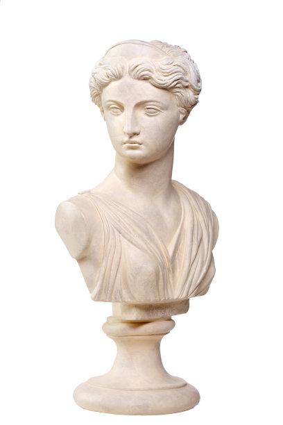 胸像月亮女神阿蒂米斯希腊女神