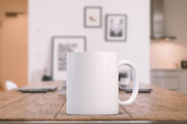 空白的咖啡白色