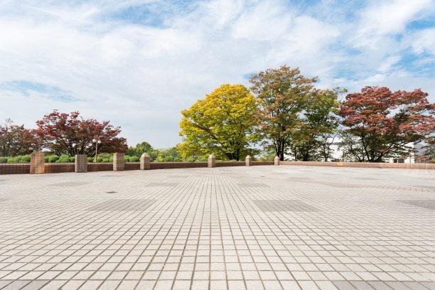 公园空的砖