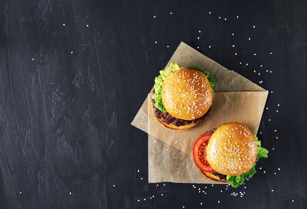 牛肉汉堡蔬菜图片