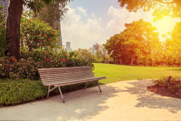 公园长椅摄影