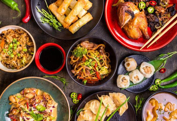 中国食品背景图片