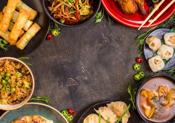 中国食品点心春卷