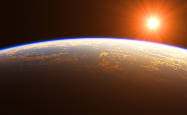 在上面黎明地球