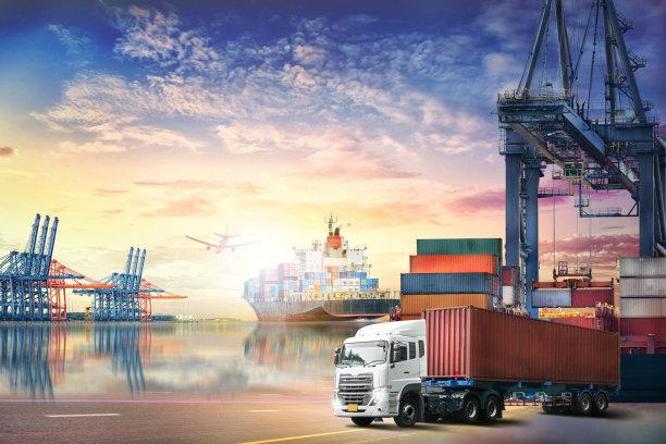 货运卡车货船