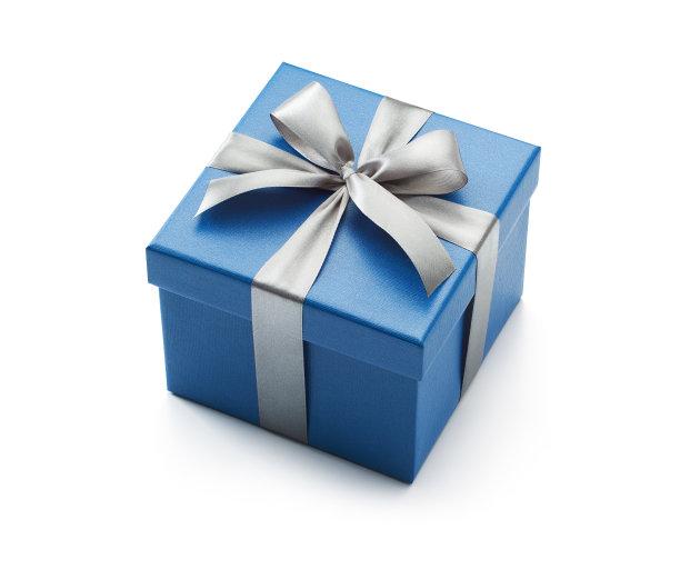 蓝色礼物盒