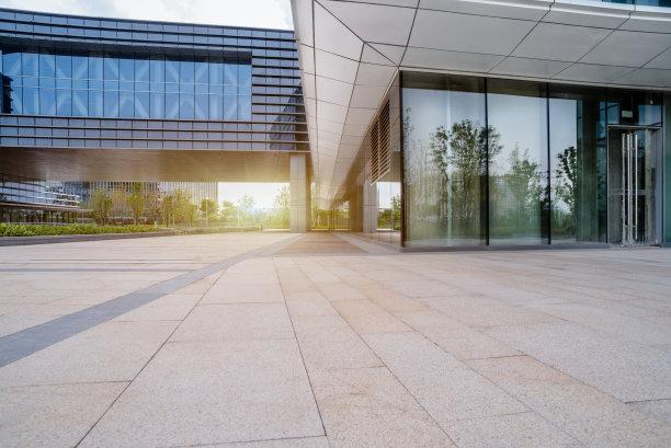 建筑外部正面视角现代