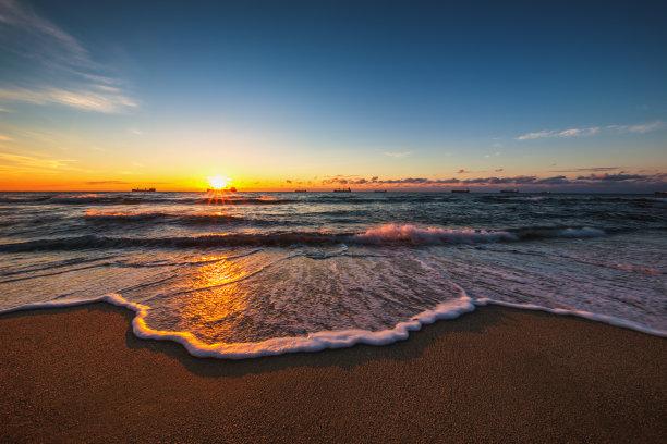 海洋,云景,自然美