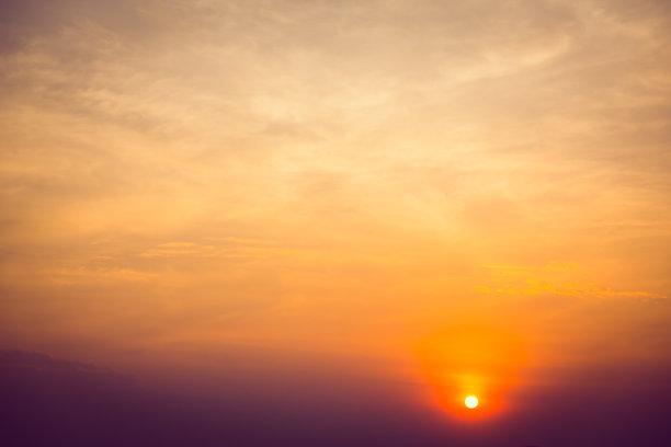 天空,水平画幅,橙色