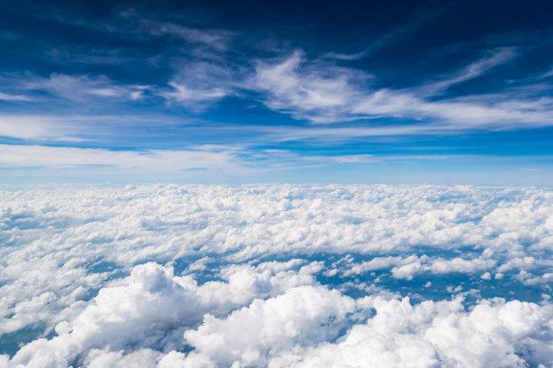 云层上空风景