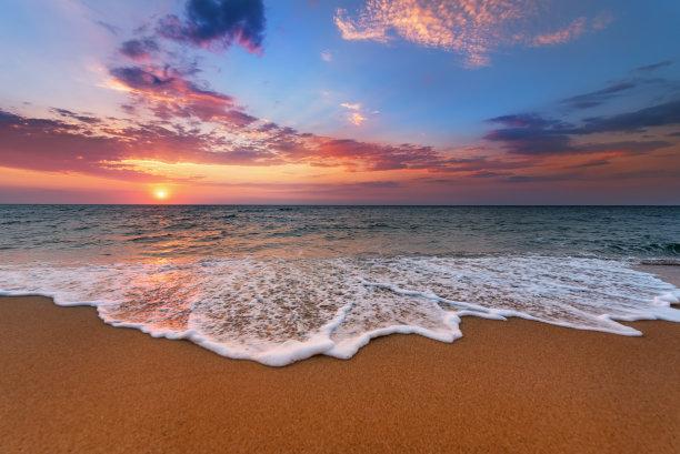 海滩,水平画幅,无人