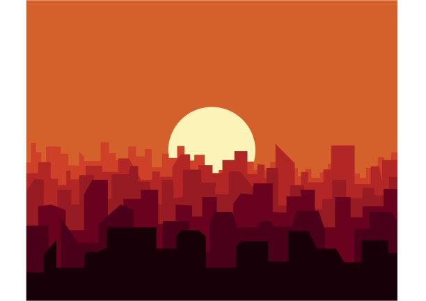 都市风景城市城市天际线
