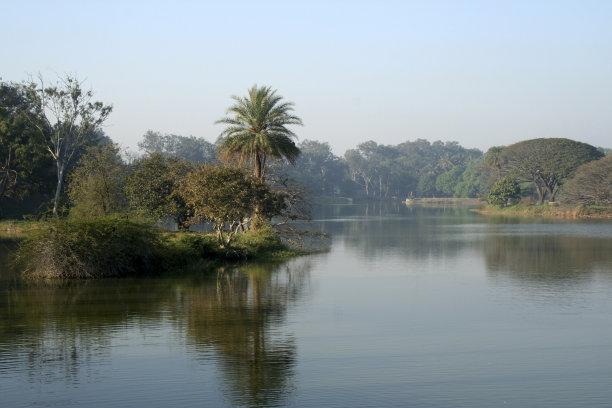 地形,湖,自然