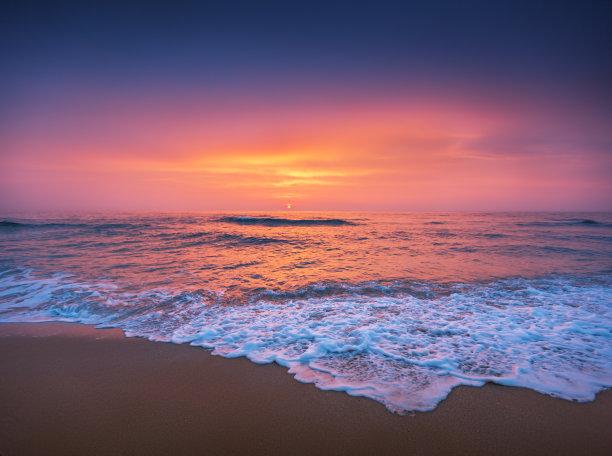 云景,海洋,在上面