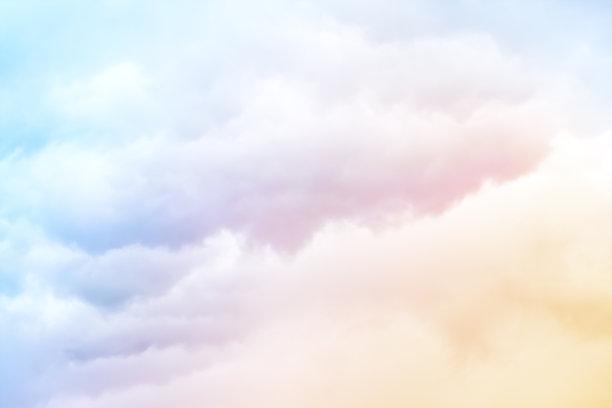 彩虹色云朵
