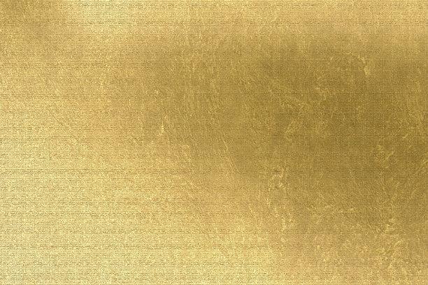 亚麻布纹理效果黄金
