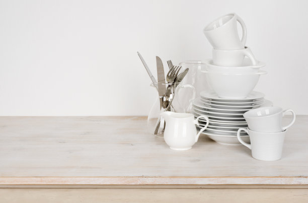 餐具桌子白色
