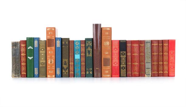 排列整齐的书
