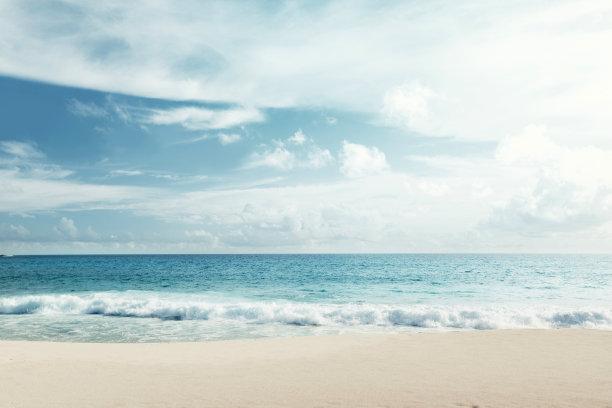 海滩蓝天海面风景