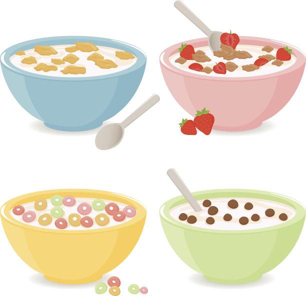 谷类食品碗图片
