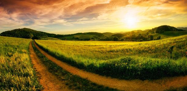 全景地形土路