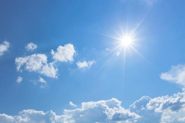 天空日光蓝色