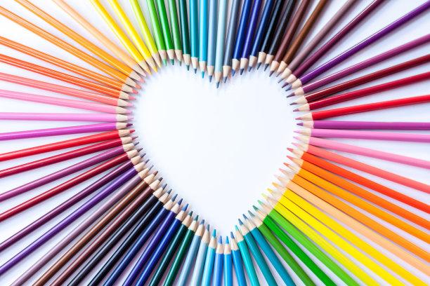铅笔,蜡笔,艺术课