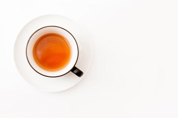 茶杯白色白色背景