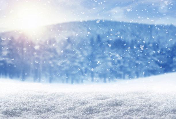 冬天背景两极气候