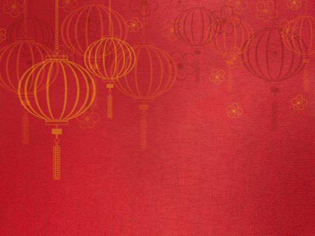 红色春节背景