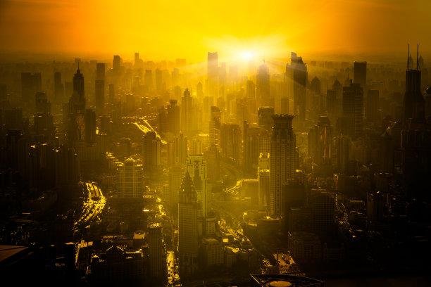 上海早晨天空