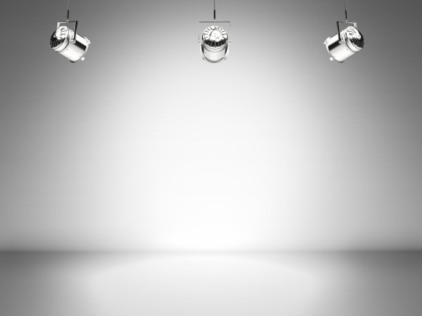 聚光灯舞台空白的