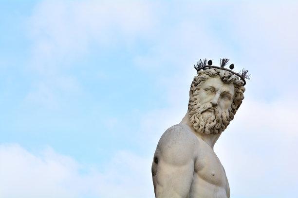 海神波塞冬古典希腊雕像