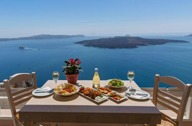 希腊上的海鲜大餐