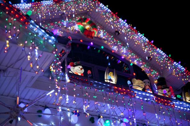 圣诞装饰圣诞小彩灯路灯