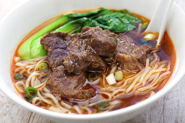醇厚的牛肉面汤