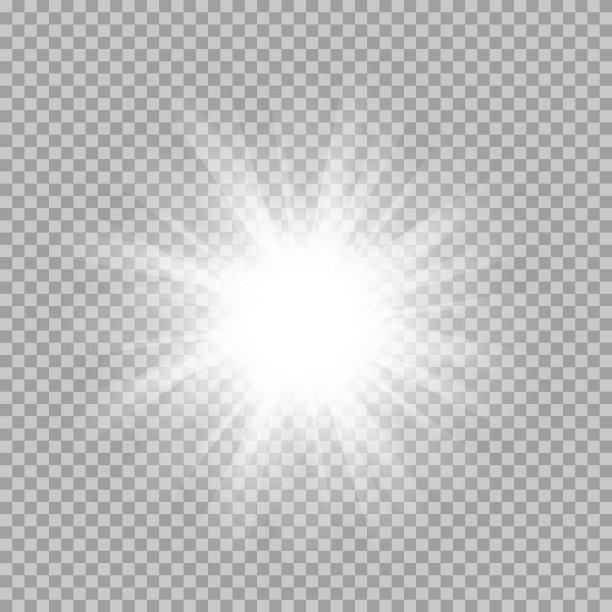镜头眩光透明矢量