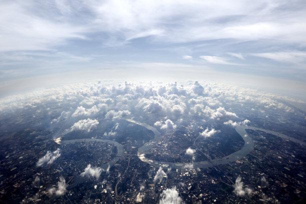 都市风景航拍视角曼谷