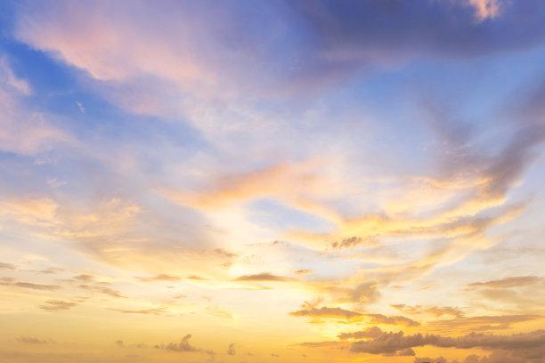 晚霞天空自然美