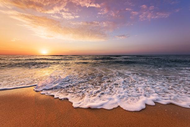 海滩,自然美,鸡尾酒