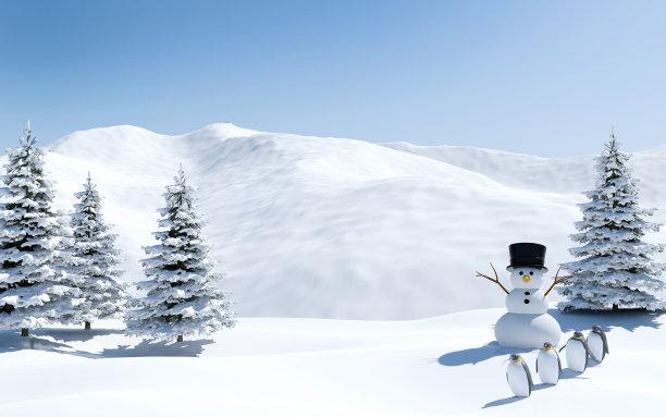 企鹅雪人雪