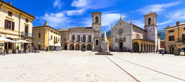 广场翁布里亚大区意大利