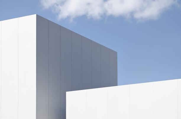 抽象方形建筑