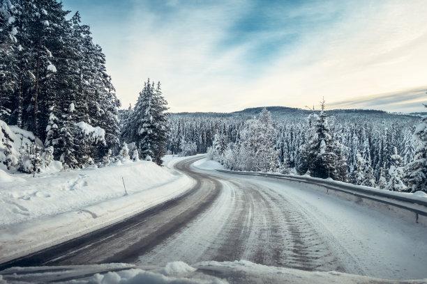 挪威一月潮湿路滑标志