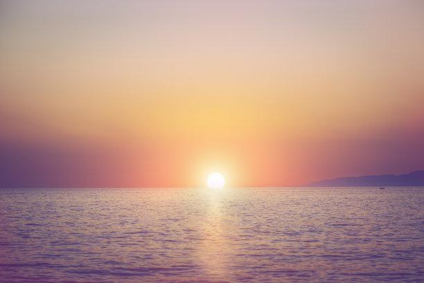 地平线落日