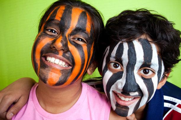 画脸印度次大陆人条纹