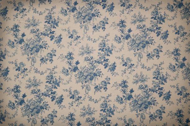 纺织品古董法式印花布